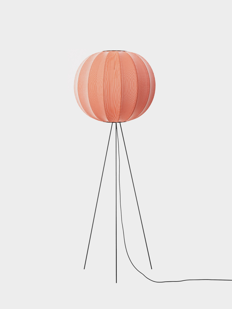Knit-Wit Floor Lamp High 60 cm - Coral