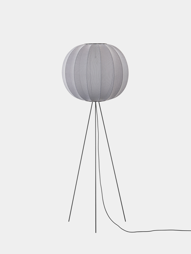 Knit-Wit Floor Lamp High 60 cm - Silver