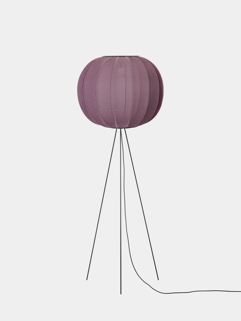 Knit-Wit Floor Lamp High 60 cm - Burgundy