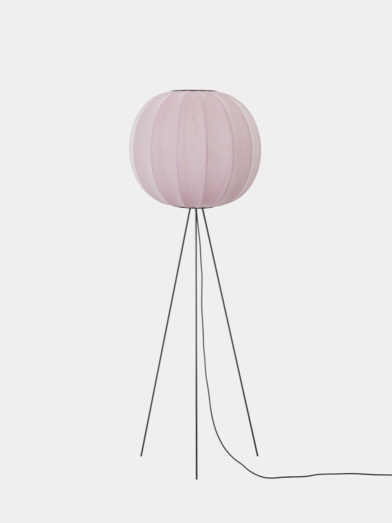 Knit-Wit Floor Lamp High 60 cm - Light Pink