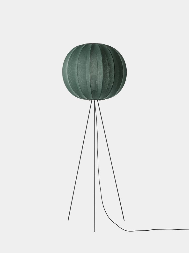 Knit-Wit Floor Lamp High 60 cm - Tweed Green