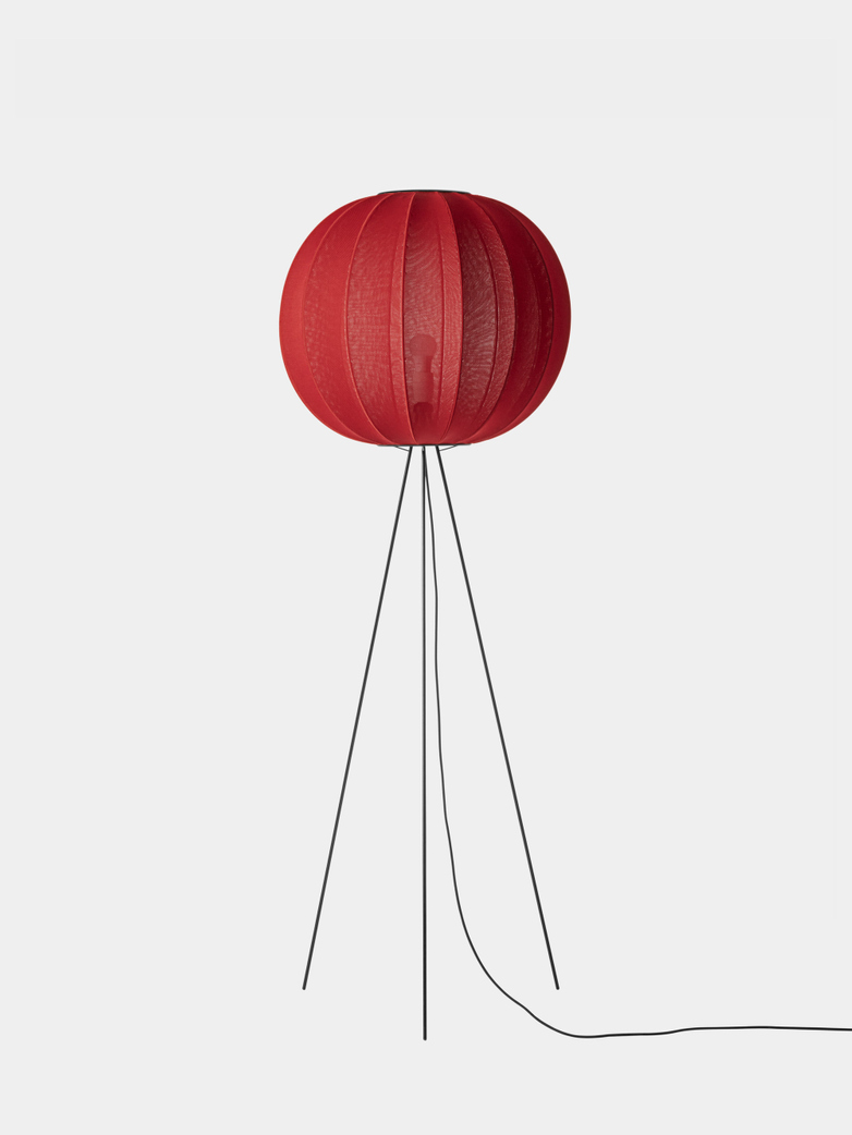 Knit-Wit Floor Lamp High 60 cm - Maple Red