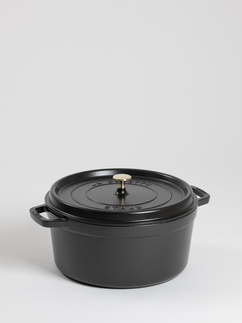 La Cocette Round Cast Iron Black - 30 cm