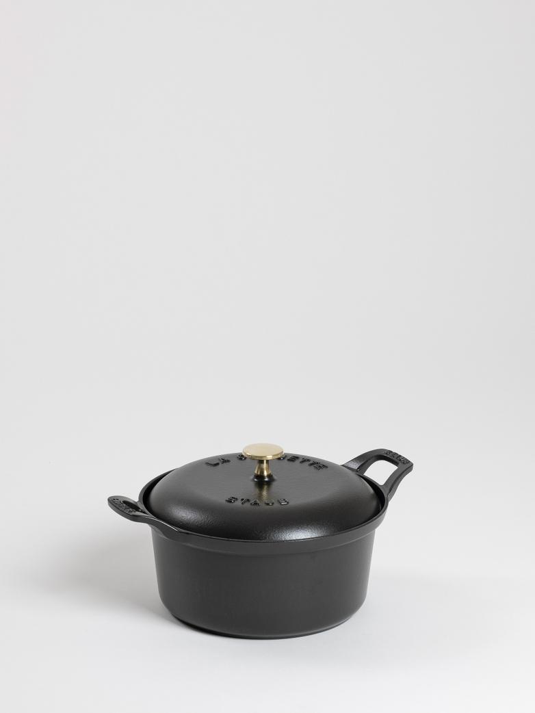 Vintage La Coquette Round Cast Iron  Black - 20 cm