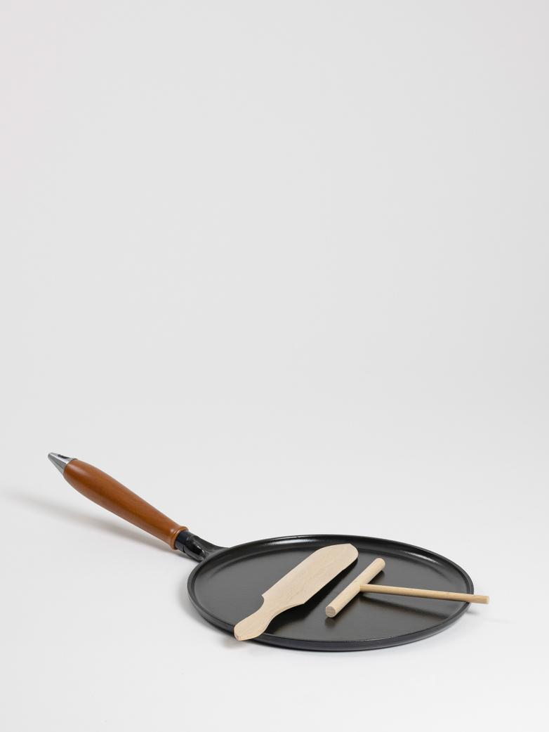 Vintage Cast Iron Pancake Pan - 28 cm