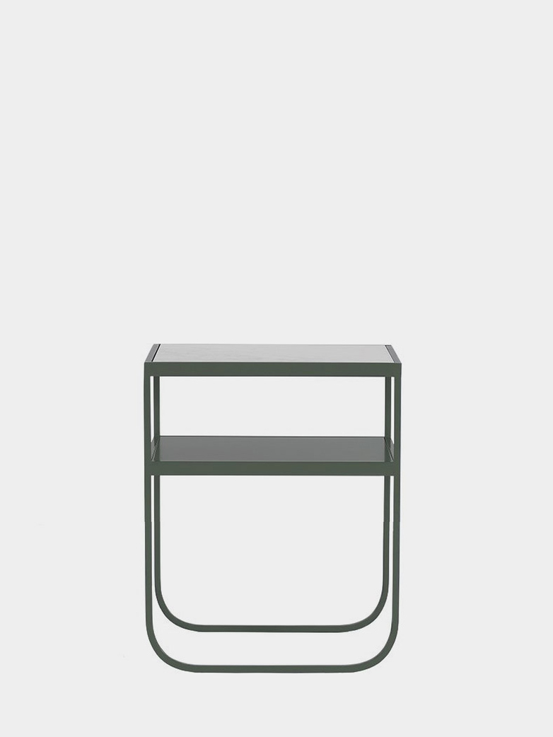 Nati Tati Console Low - Green Khaki - Carrara Marble