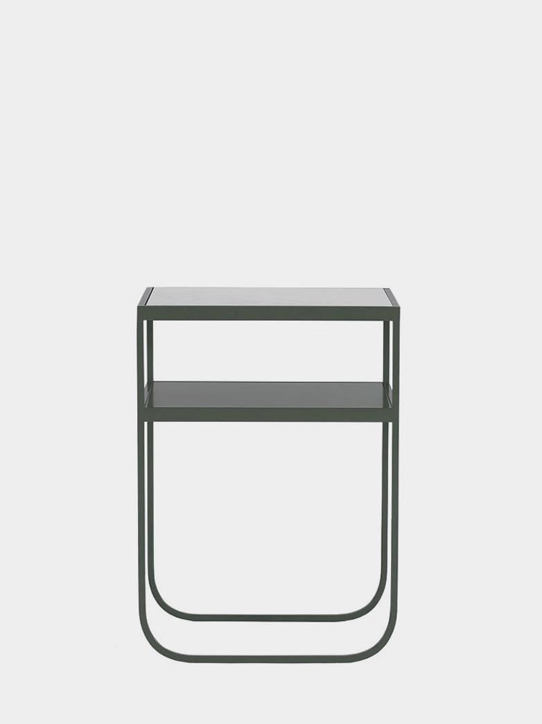 Nati Tati Console High - Green Khaki - Carrara Marble