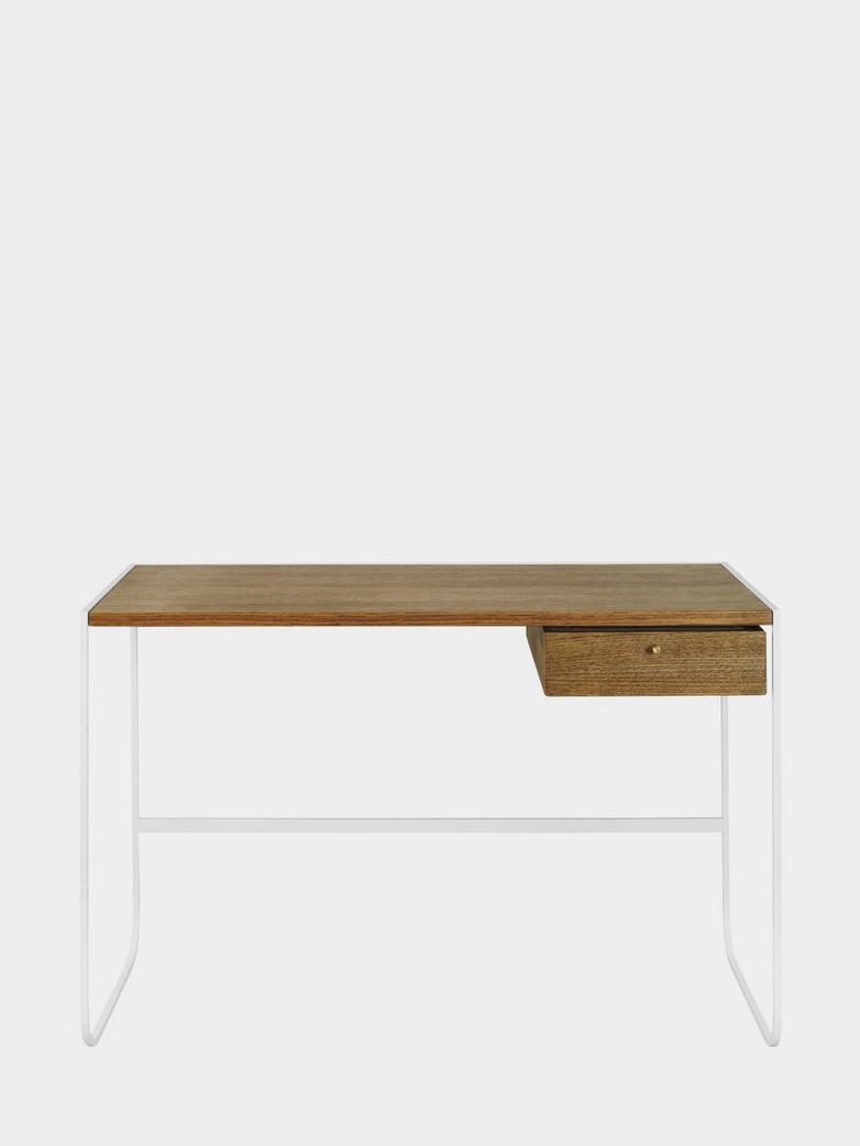 Tati Desk - White - Black Walnut Oak