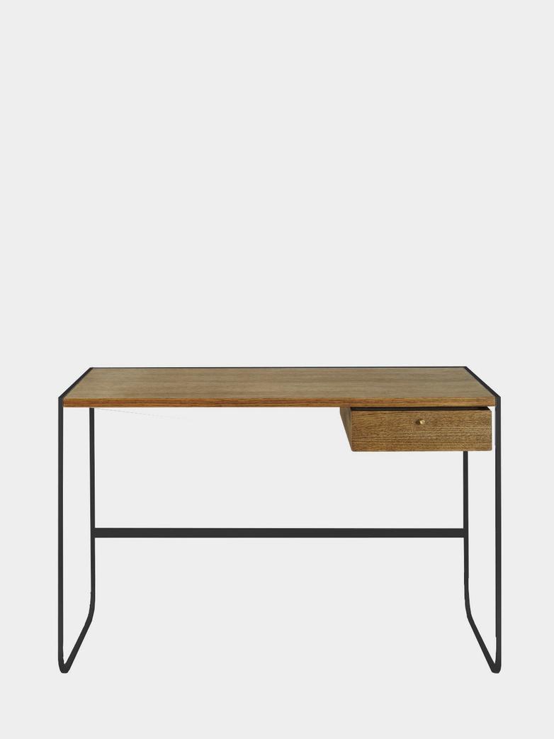Tati Desk - Char Grey - Black Walnut Oak