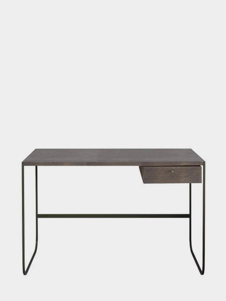 Tati Desk - Char Grey - Dark Smoked Oak