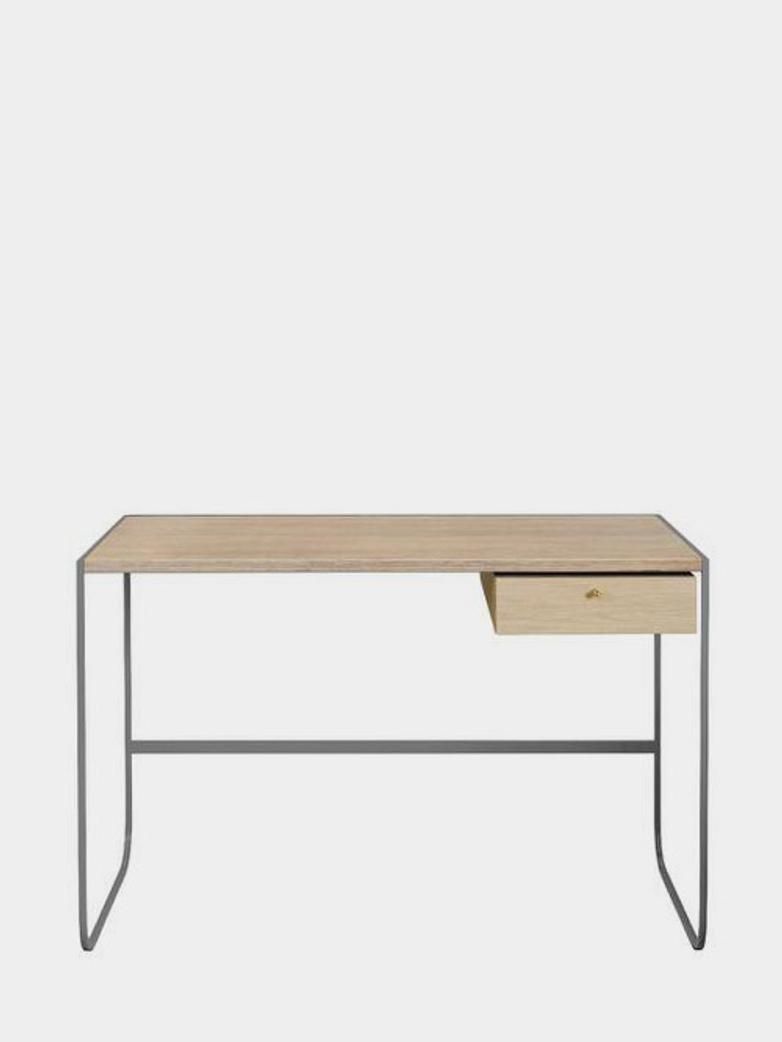 Tati Desk - Storm Grey - White Stained Oak