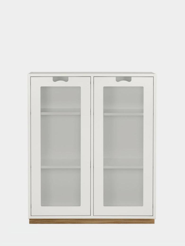 Snö E - Glass Doors - White