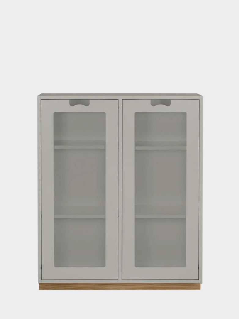 Snö E - Glass Doors - Light Grey