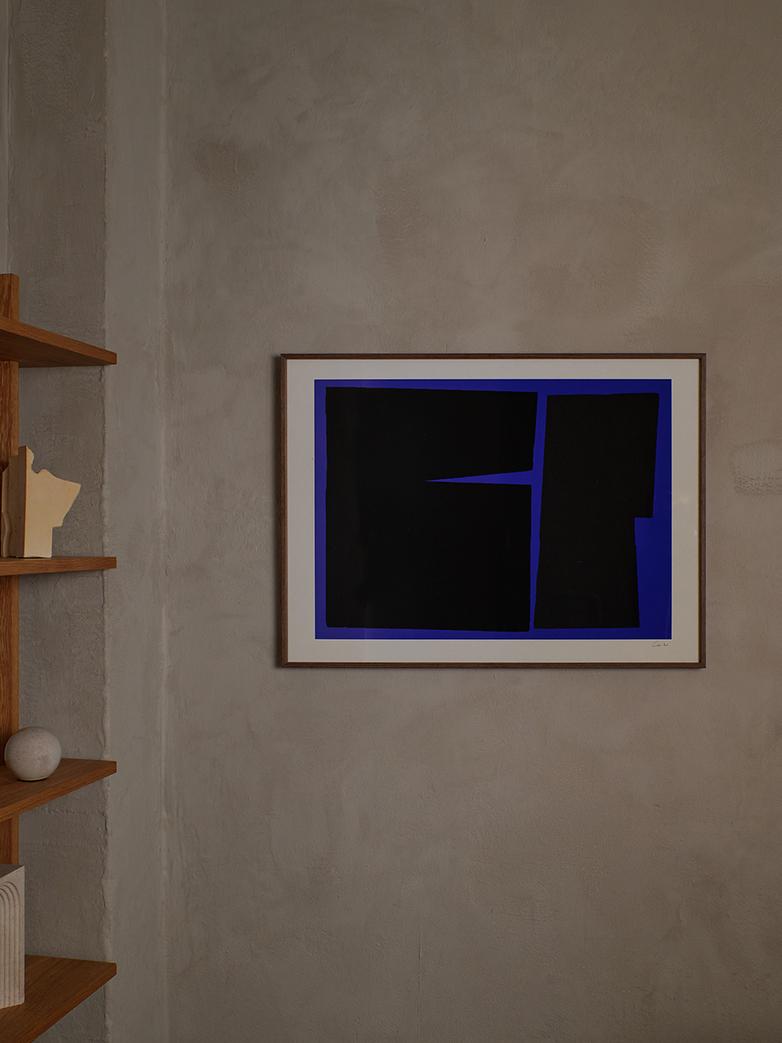 Blue Geometric - 50 x 70