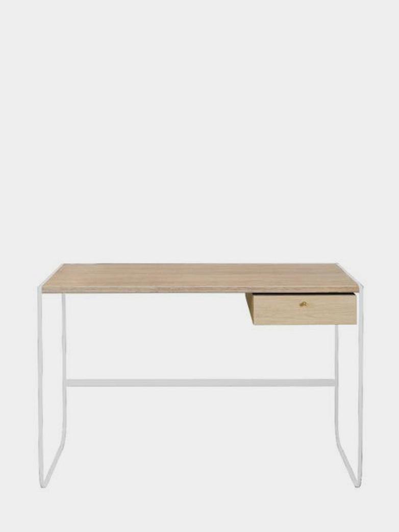 Tati Desk - White - White Stained Oak