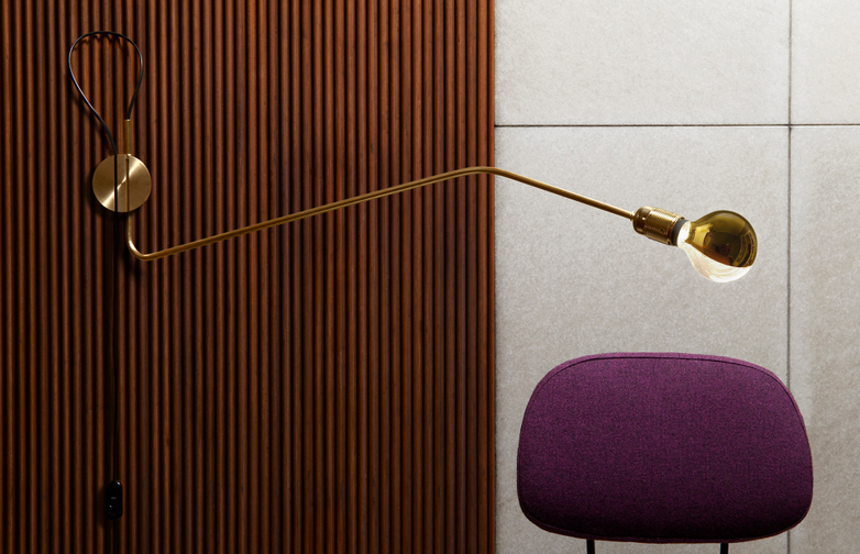 Wall Lamp Long Brass