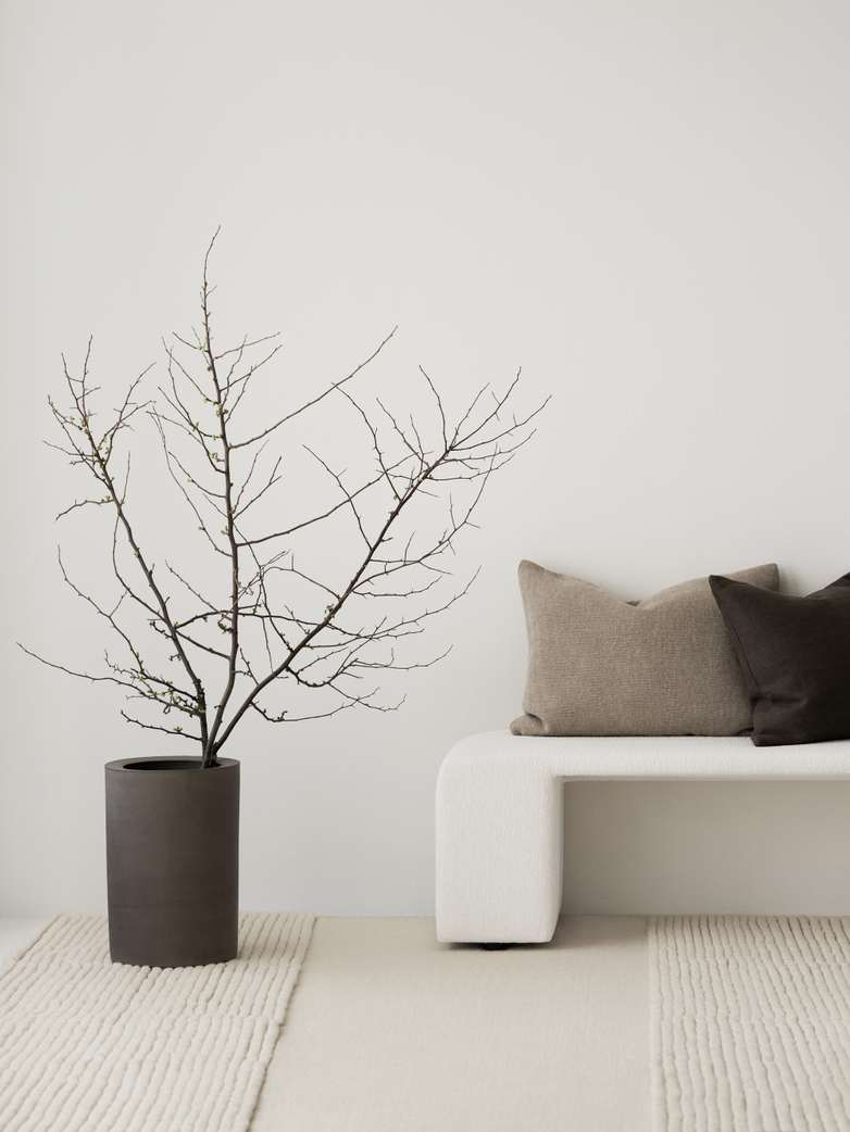 LA Striped - Wool Bone White - 300 x 400 cm