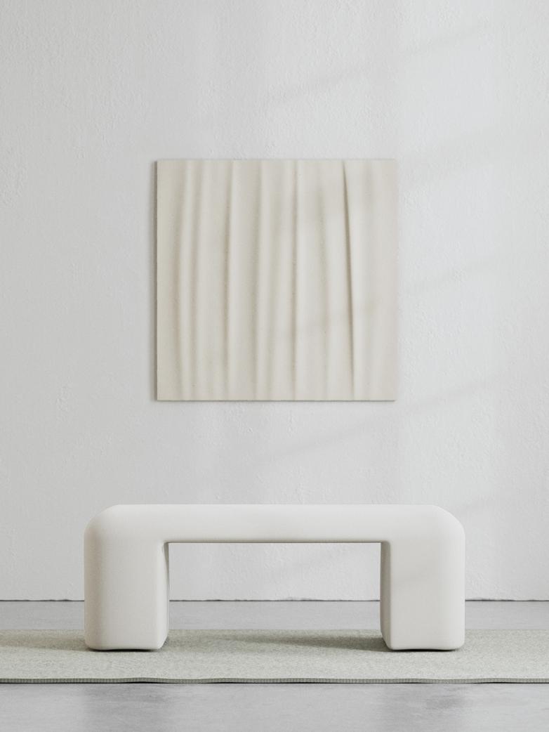 LA Bench - Bone White - 120 cm
