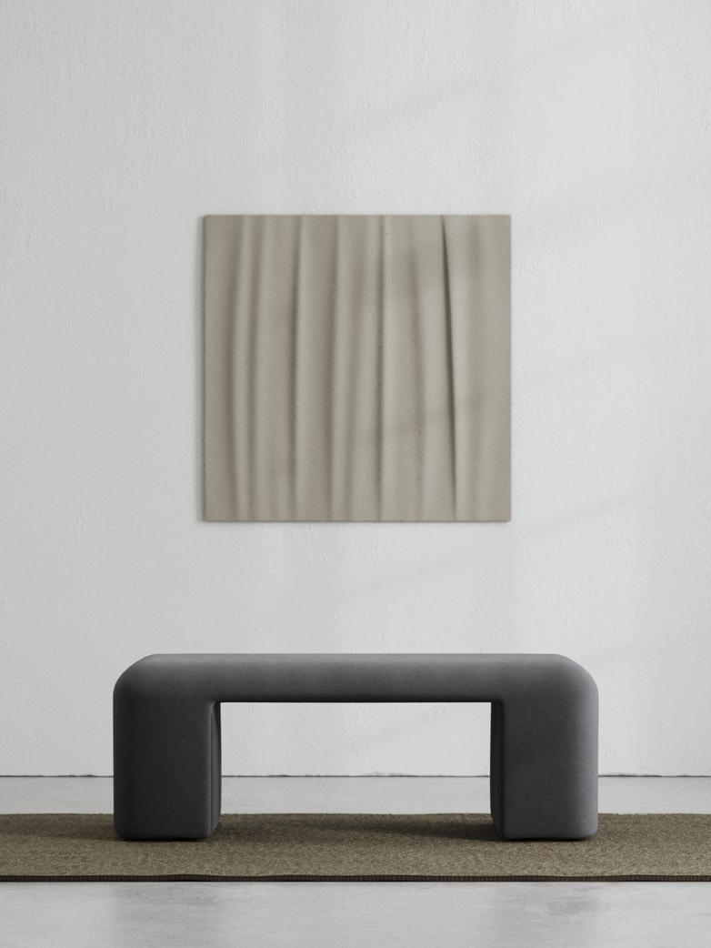 LA Bench - Velvet Evening Gray - 120 cm