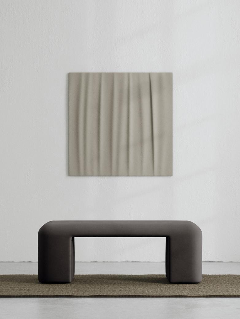 LA Bench - Velvet Deep Mocha - 120 cm