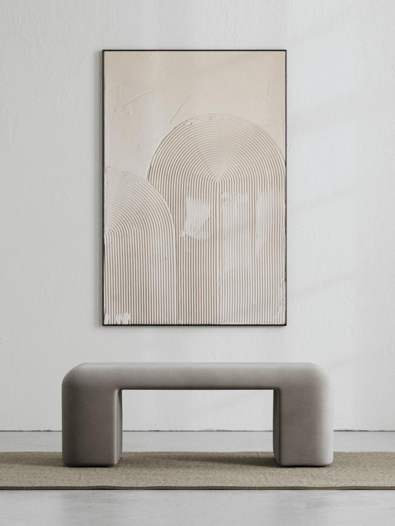 LA Bench - Velvet Cold Clay - 120 cm