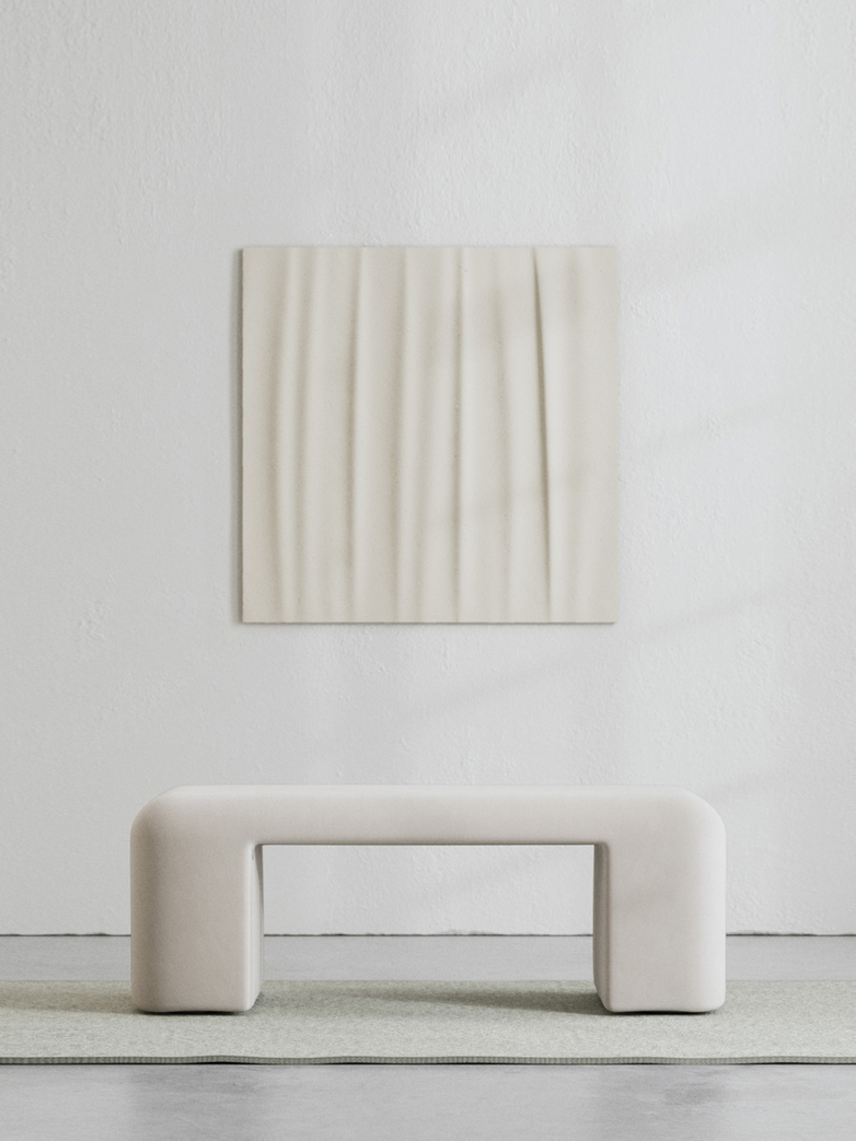 LA Bench - Velvet Bone White - 120 cm