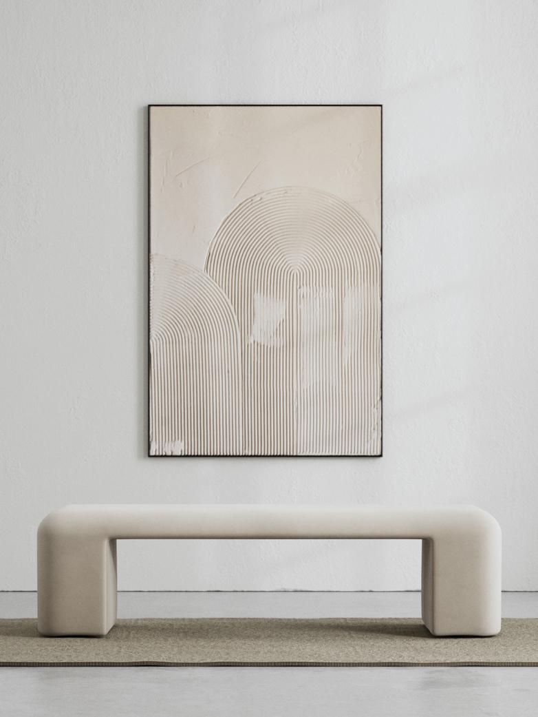 LA Bench - Velvet True Greige - 160 cm