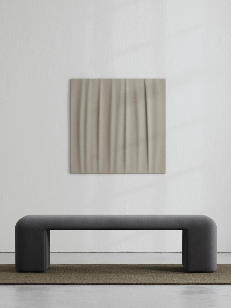 LA Bench - Velvet Evening Gray - 160 cm