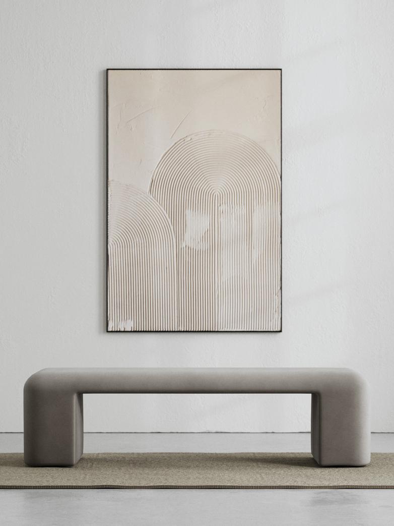 LA Bench - Velvet Cold Clay - 160 cm