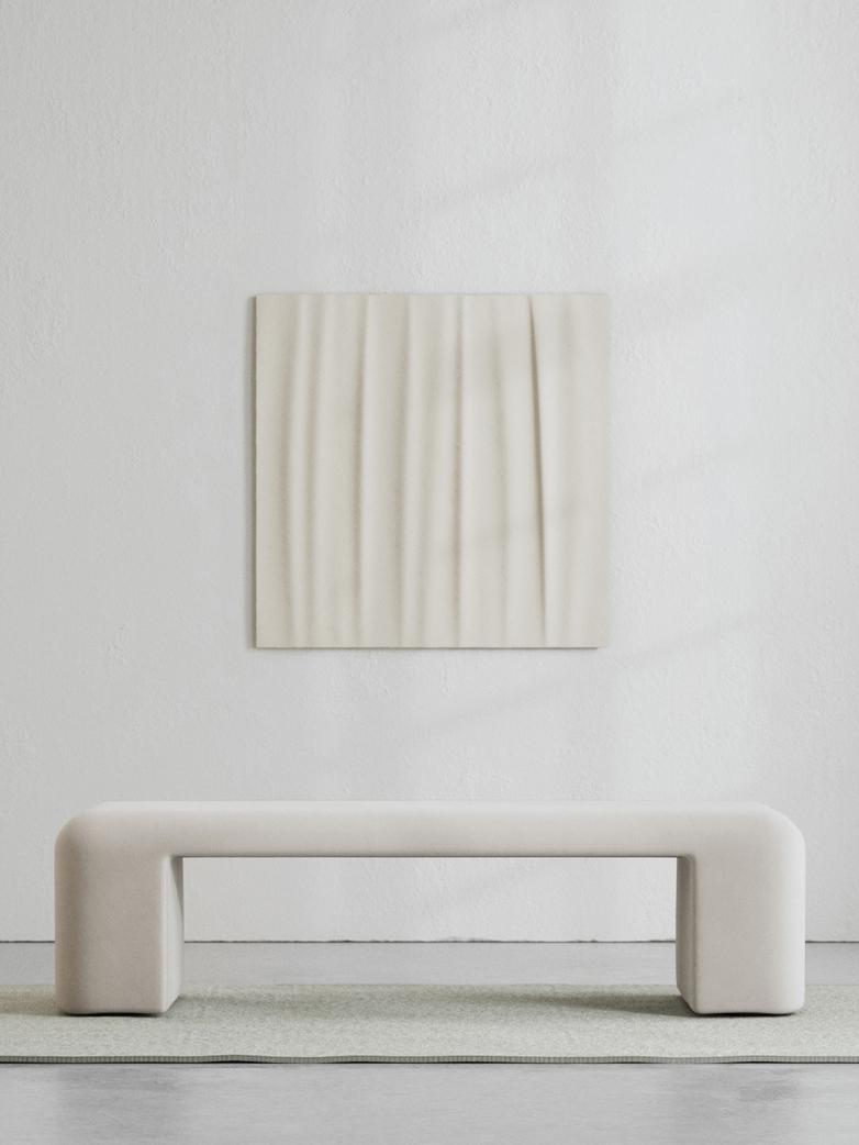 LA Bench - Velvet Bone White - 160 cm