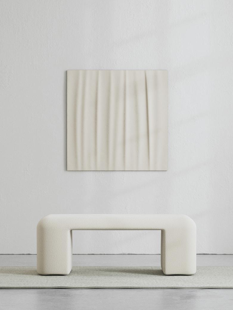 LA Bench - Bouclé Off White - 120 cm