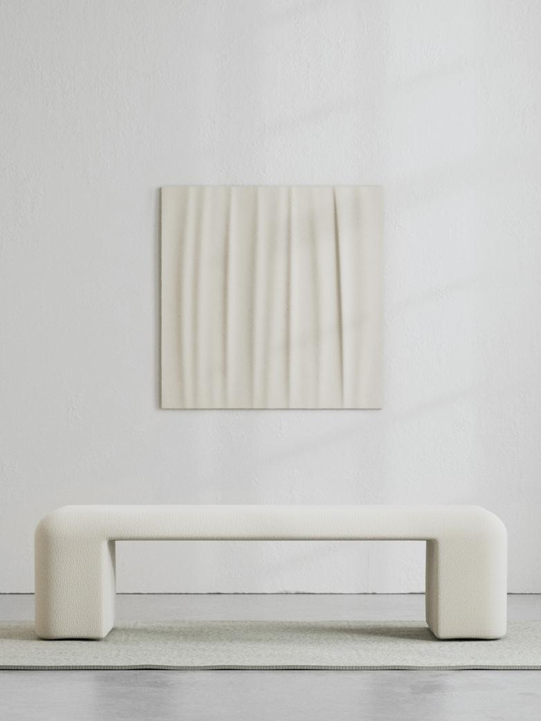 LA Bench - Bouclé Off White - 160 cm