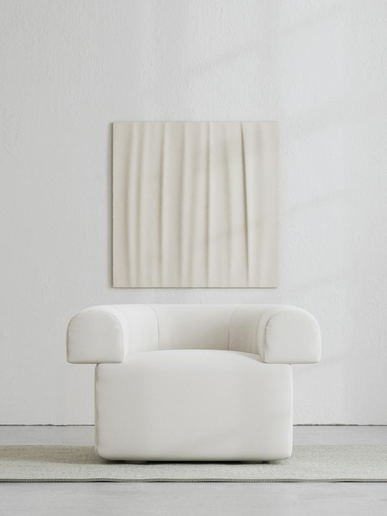 LA Armchair - Bone white