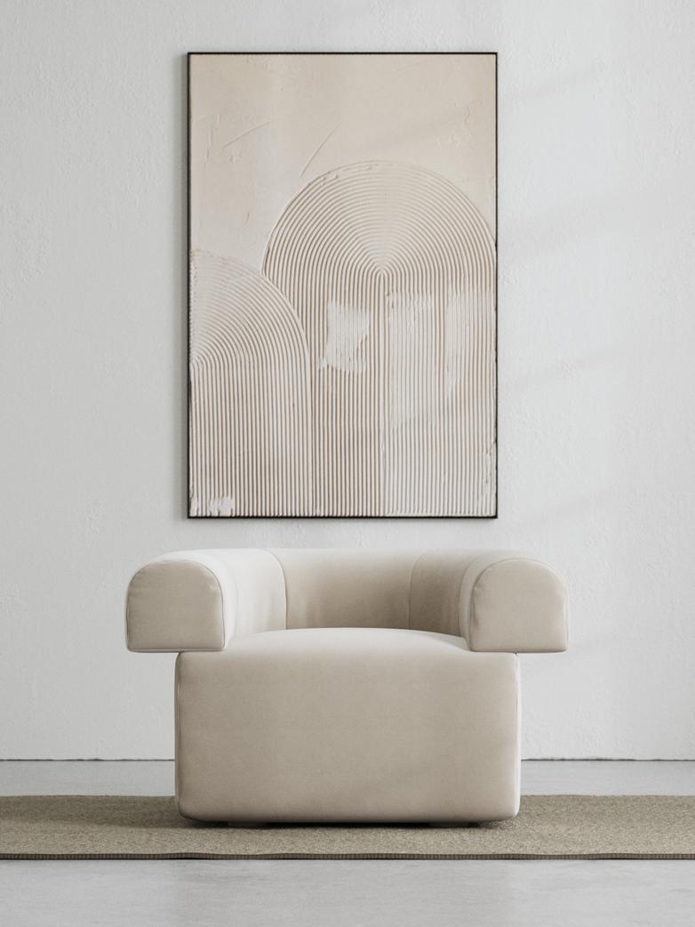 LA Armchair - Velvet True Greige