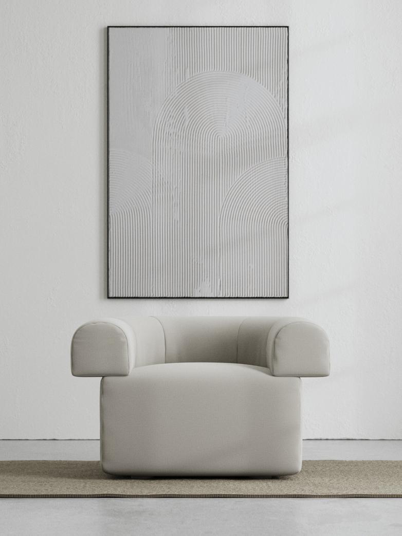 LA Armchair - Cold Clay