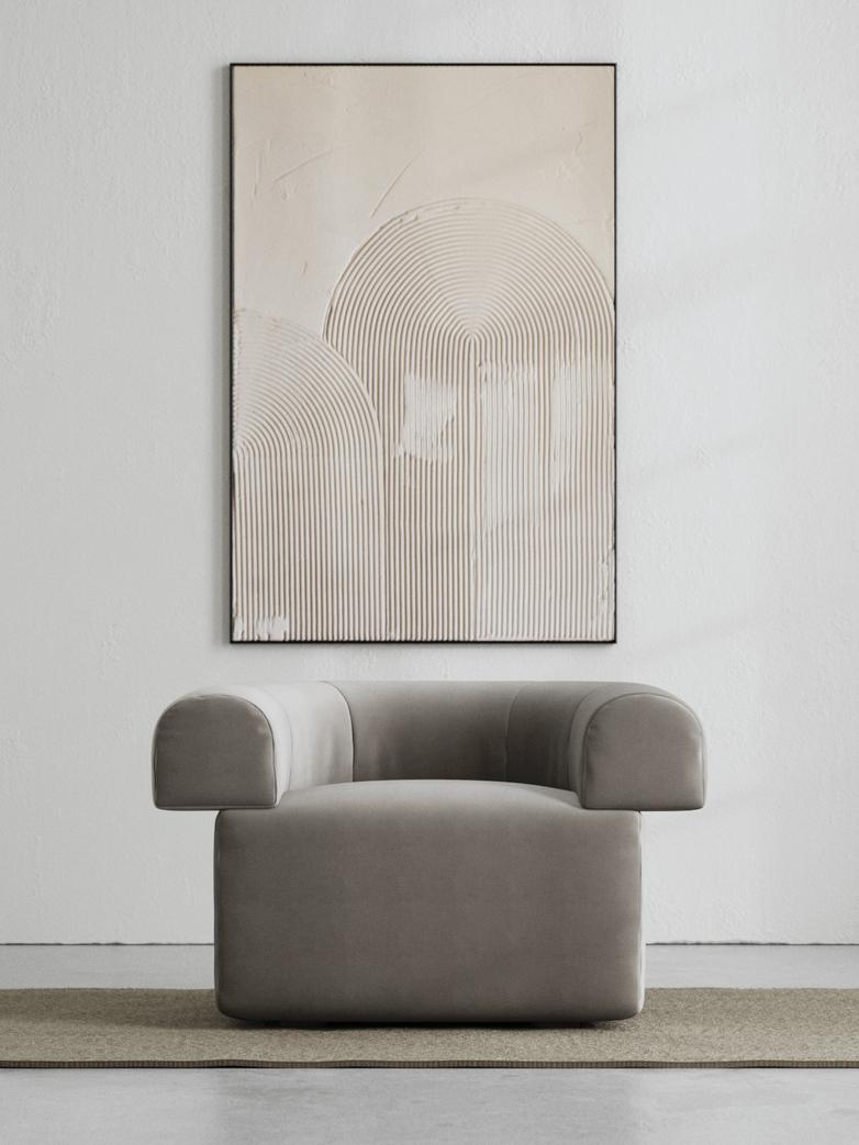LA Armchair - Velvet Cold Clay