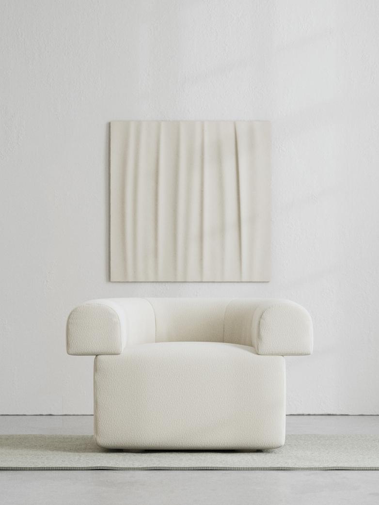 LA Armchair - Bouclé Off White
