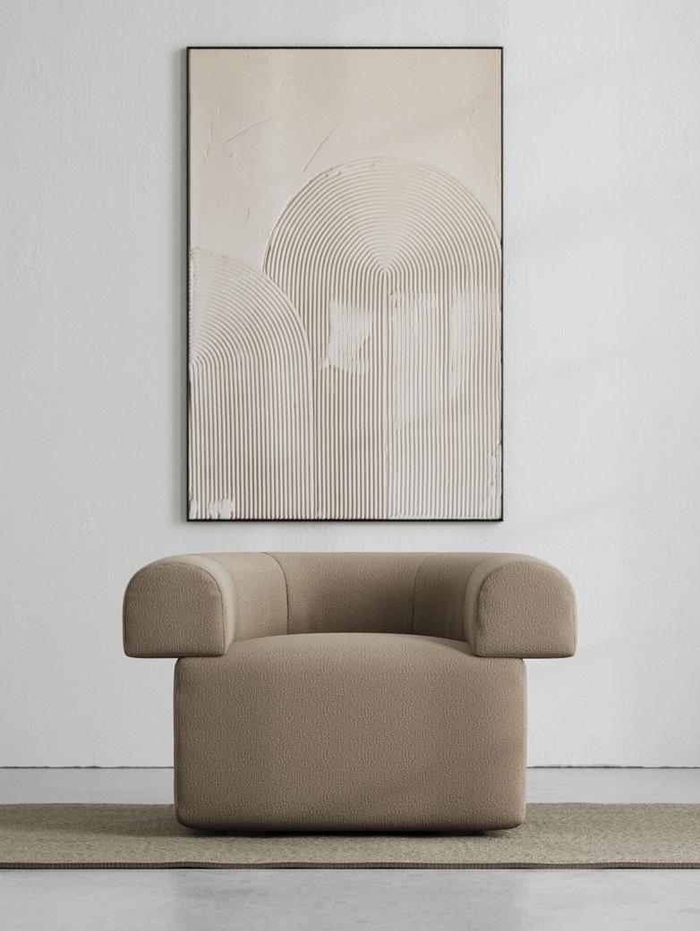LA Armchair - Bouclé Warm Clay