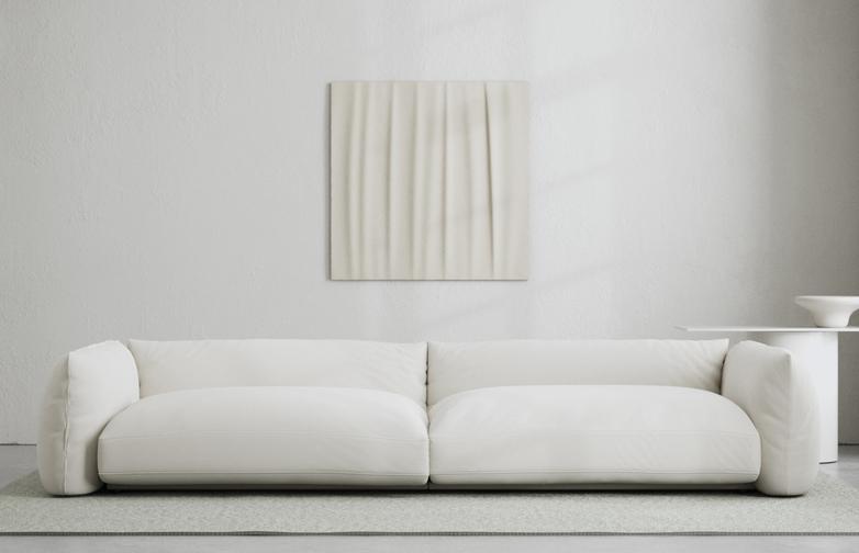 LA Sofa - Bone White - 290 cm