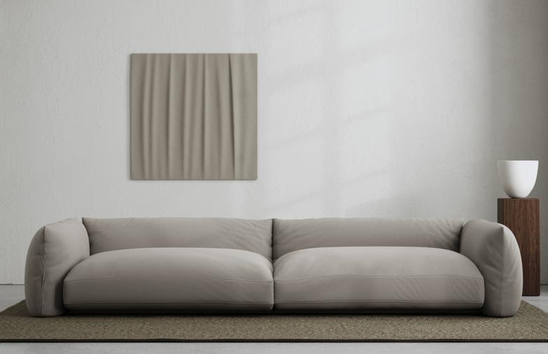 LA Sofa - Cold Brown - 290 cm