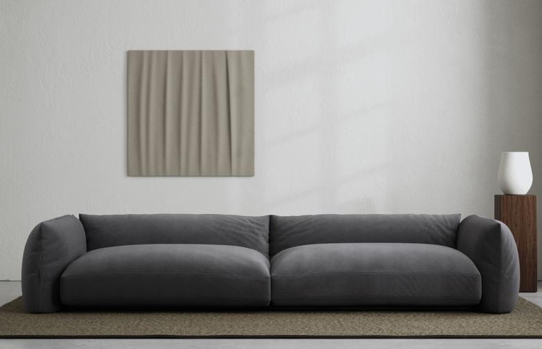 LA Sofa - Velvet Evening Gray - 290 cm