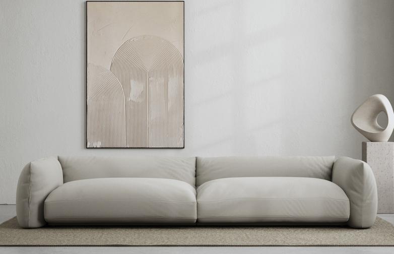 LA Sofa - Cold Clay - 290 cm