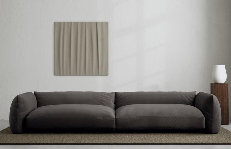 LA Sofa - Velvet Deep Mocha - 290 cm