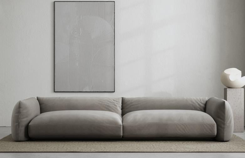 LA Sofa - Velvet Cold Clay - 290 cm