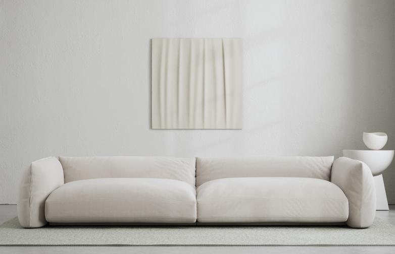 LA Sofa - Velvet Bone White - 290 cm