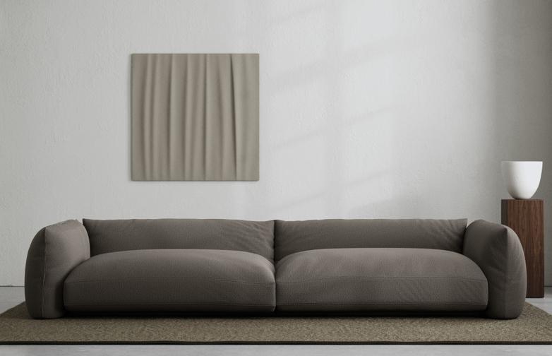 LA Sofa - Bouclé Dark Taupe - 290 cm