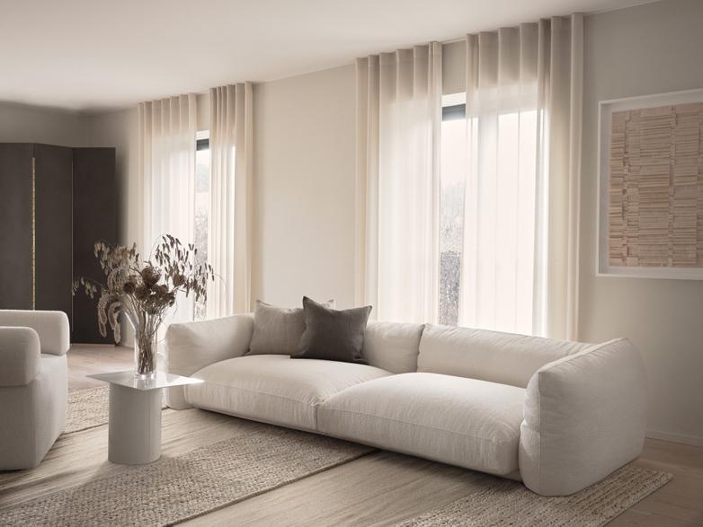 LA Sofa - Bouclé Off White - 290 cm