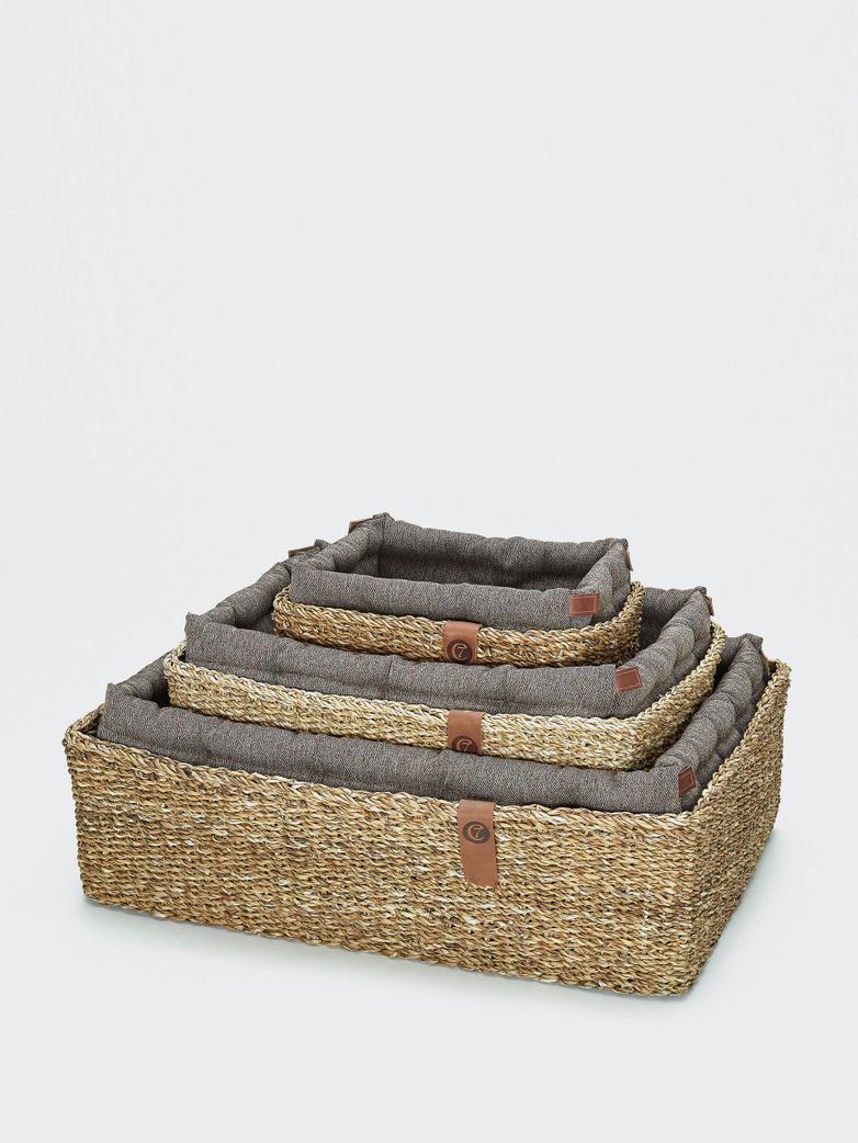 Dog Basket Hideaway - Herringbone