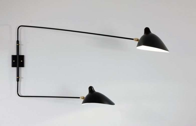 Wall Lamp with Two Rotating Straight Arms