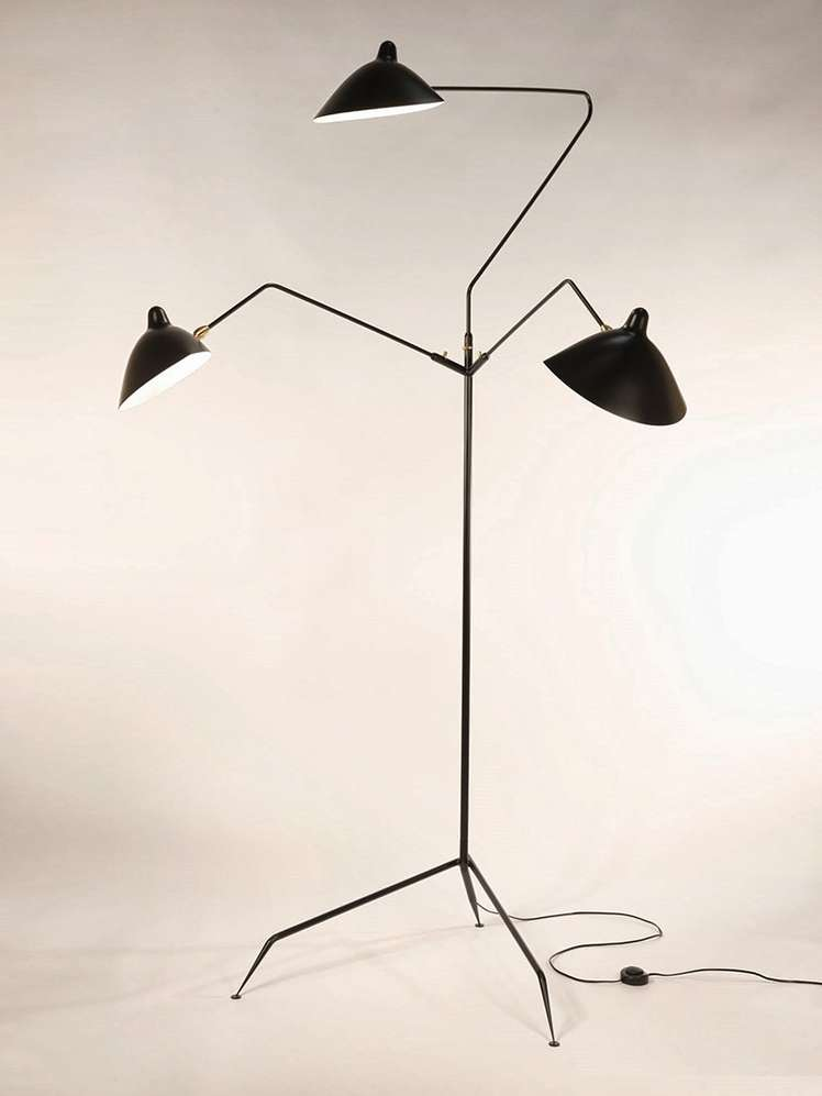 Standing Lamp with Three Arms